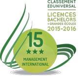 classement 2016 bachelor ESCI 15eme